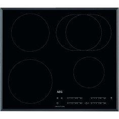 Pliidiplaat AEG, 4x induktsioon, 60 cm, must, faasitud serv