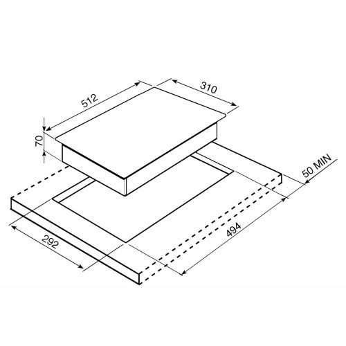 Teppanjaki Smeg Classic, domino, induktsioon, 31 cm, rv teras