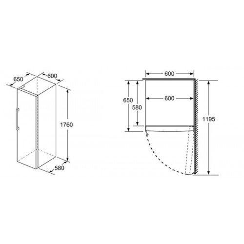 Sügavkülmik Bosch, 176 cm, A++, 42 dB, NoFrost, elektrooniline juhtimine, valge