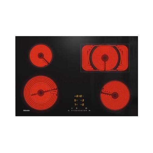 Pliidiplaat Miele KM 6542 FL, 4 x HighLight, 76 cm, must