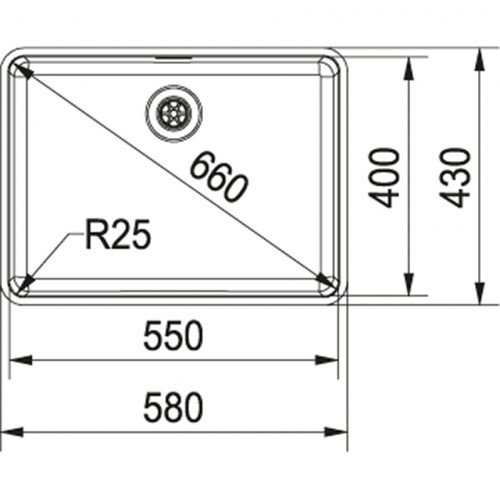 Valamu Franke KBX 110-55 sealh ventiil (käsitsi)