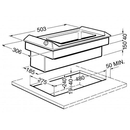 Fritüür Smeg, Domino, 30 cm, RV teras