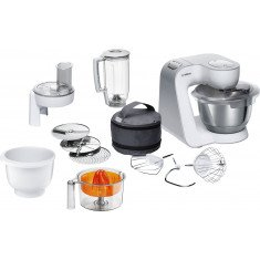 Köögikombain Bosch, 1000 W, valge/hõbe