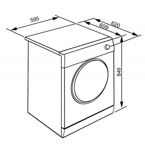 Kuivati Smeg, soojuspumbaga, 8 kg, A+++, LCD, valge