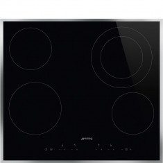 Pliidiplaat Smeg, 4 x HighLight, 60 cm, must, rv raam