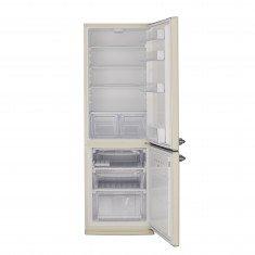 Külmik Bravatec Retro, sügavkülmik all, 186 cm, A++, 42 dB, beež