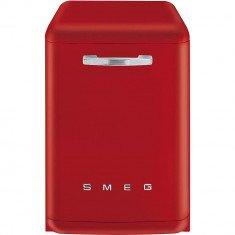 Nõudepesumasin Smeg, vabaltseisev, 50-ndate stiil, 60cm, A+++, 42 dB, punane