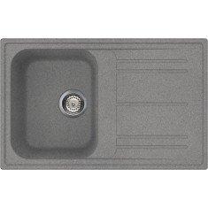 Valamu Smeg, 79 cm, Rigae®, pealt paigaldatav, käsitsi, graniit, titaan