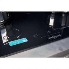 Pliidiplaat Whirlpool, 8 x induktsioon, flexi tsoon, 65 cm, must