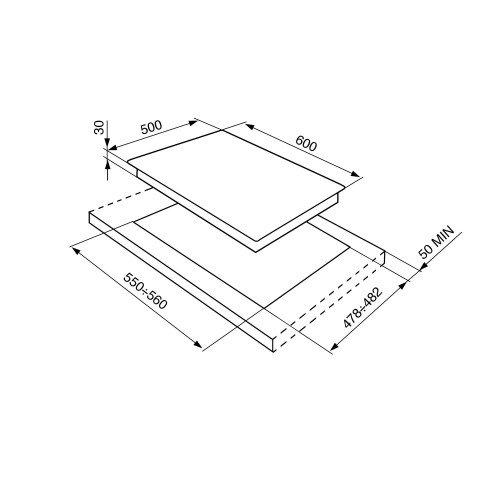 Pliidiplaat Smeg Classic, 4x gaas, 60 cm, RV teras