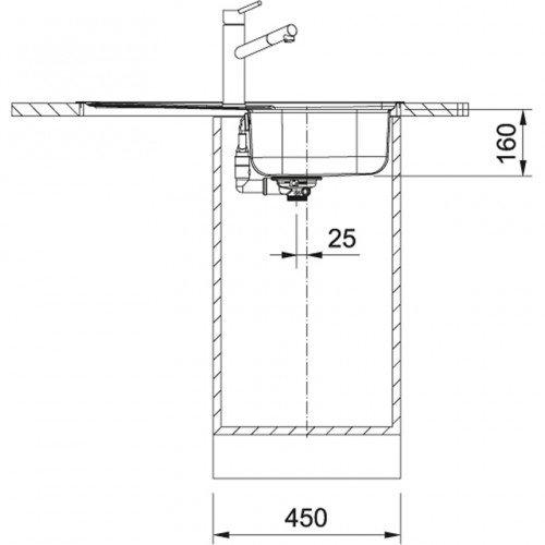 Valamu Franke SKX 611-79 (sh. ventiil), pööratav, vääristeras sile