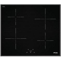 Pliidiplaat Smeg, 4x induktsioon, 60 cm, must, faasitud serv
