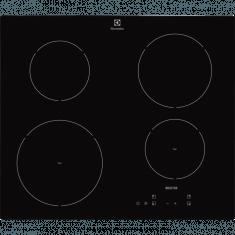 Pliidiplaat Electrolux, 4x Induktsioon, 60cm, must, lõigatud serv
