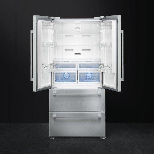Külmik Smeg, Prantsuse uksega, 182cm, A++, 42 dB, elektrooniline juhtimine , RV teras