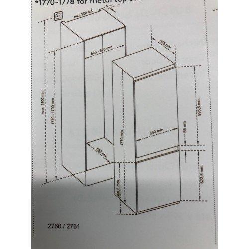 ¤Külmik Scanberg, integreeritav, NoFrost, 177 cm, A++, elektrooniline juhtimine