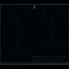 Pliidiplaat Electrolux, 4 x induktsioon, 60 cm, must, faasitud esiserv
