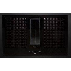 Falmec õhupuhastaja ja pliidiplaat QUANTUM, 4 x induktsioon, 84 cm, 600 m3/h, must klaas/AISI 304 rv teras