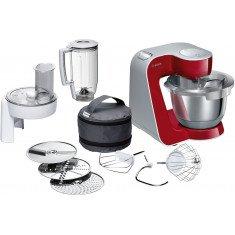 Köögikombain Bosch, 1000 W, hõbe/punane