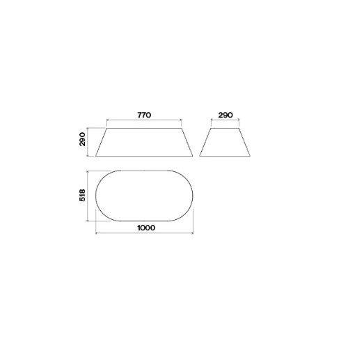 Saare (rippuv) õhupuhastaja Falmec MATERIA, Circle.Tech, 100 cm, 600 m3/h, LED 2x1,2 W
