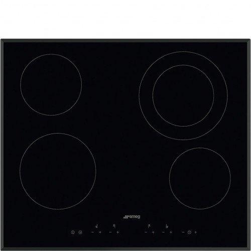 Pliidiplaat Smeg, 4x HighLight, 60 cm, must, faasitud serv