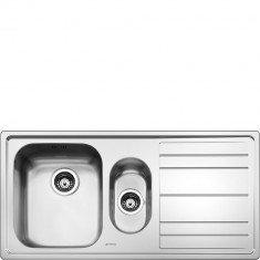Valamu Smeg Rigae, 100 cm, pealt paigaldatav, käsitsi, vääristeras, RV teras