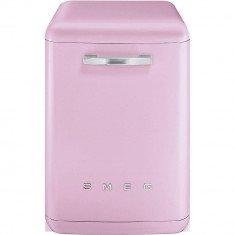 Nõudepesumasin Smeg, vabaltseisev, 50-ndate stiil, 60cm, A+++, 42 dB, roosa