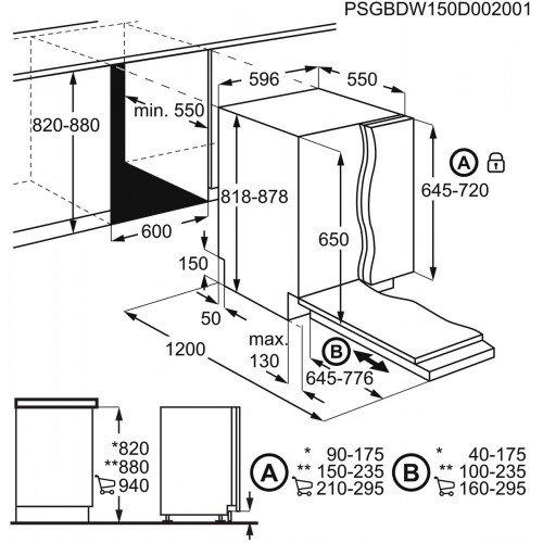 Nõudepesumasin Electrolux, integreeritav, A+, 60 cm, 49 dB