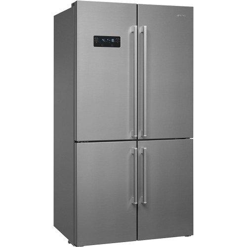 Külmik Smeg, nelja uksega, 182 cm, A++, 43 dB, NoFrost, puutetundlik, RV teras