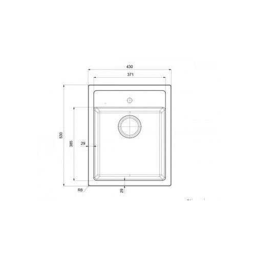 Valamu Franke SIRIUS, SID 610-40 (käsitsi avatav), Carbon