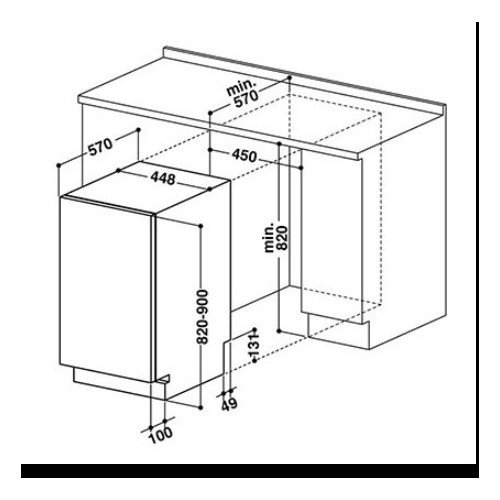 Nõudepesumasin Whirlpool, integreeritav, 45 cm, A++, 43 dB
