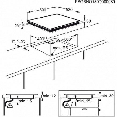 Pliidiplaat Electrolux, sensorjuhtimine, 4x HighLight