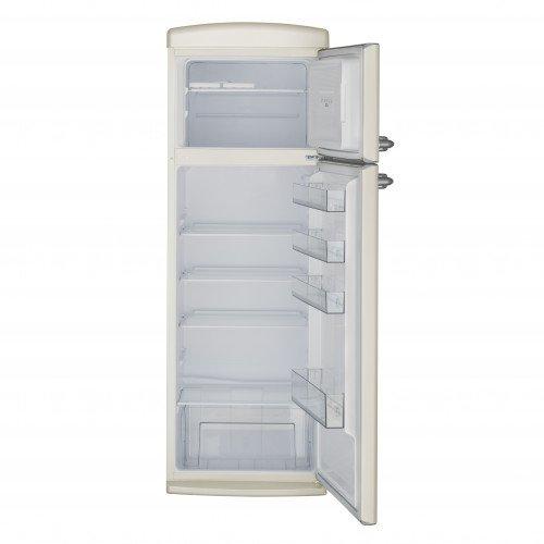 Külmik Bravatec Retro, sügavkülmik ülal, 171 cm, A++, 42 dB, beež