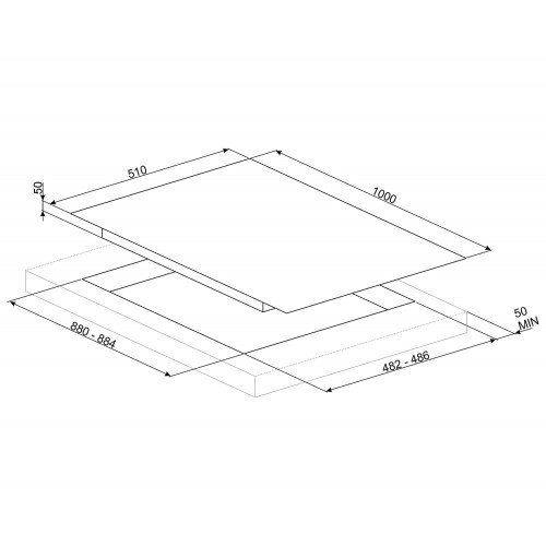 Pliidiplaat Smeg DolceStilNovo, 6x gaas, 100 cm, RV teras