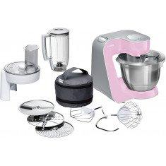 Köögikombain Bosch, 1000 W, hõbe/õrnroosa