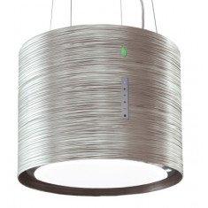 Saare (rippuv) õhupuhastaja Falmec TWISTER E-ION 45cm, 450 m3/h, LED 4x1,2W (3200K), titanium