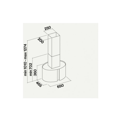 ¤Saare õhupuhastaja Falmec Mirabilia Venezia 65 cm, 800 m3/h, LED 4x1,2W (3200K)