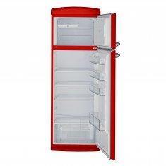 Külmik Bravatec Retro, sügavkülmik ülal, 171 cm, A++, 42 dB, punane