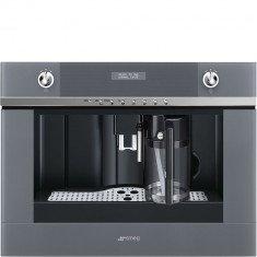 Espresso kohvimasin Smeg, integreeritav, automaatne piimavahustaja, Linea, hõbedane klaas