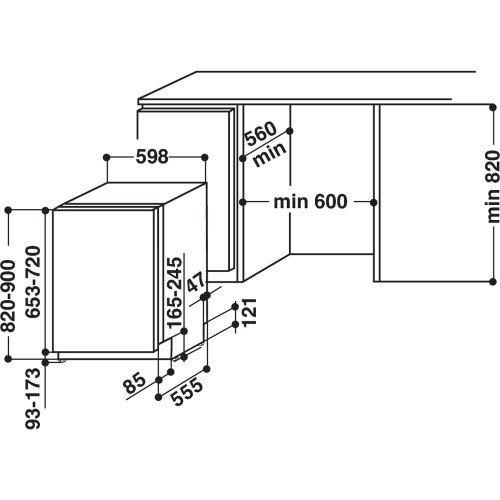 Nõudepesumasin Whirlpool, integreeritav, 60 cm, A+++, 43 dB