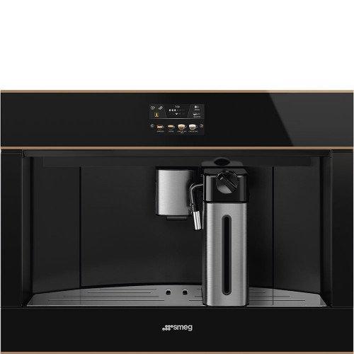 Kohvimasin DolceStilNovo Smeg, integreeritav, täisautomaatne, must klaas/vask