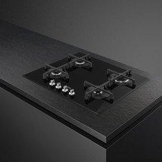 Pliidiplaat Smeg Linea, 4 x gaas, 60 cm, must, faasitud serv