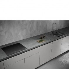 Pliidiplaat Smeg, 4 x induktsioon, 60 cm, must, faasitud serv