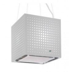 Saare (rippuv) õhupuhastaja Falmec RUBIK E-ION 42cm, 450 m3/h, LED 4x1,2W (3200K), valge klaas