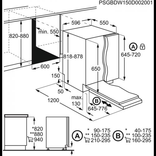 Nõudepesumasin Electrolux, integreeritav, 3 korvi, A++, 60 cm, 44 dB