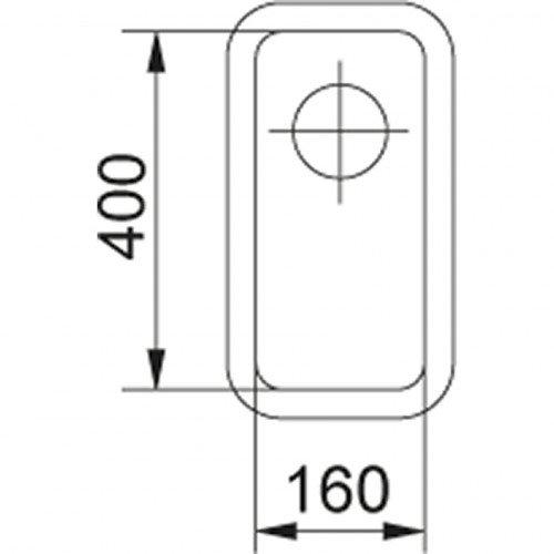 Valamu Franke KBX 110-16 sealh. ventiil (nupuga avatav)