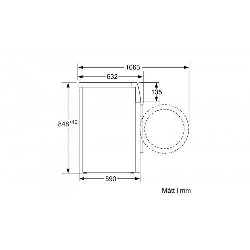 Pesumasin Bosch, eestlaetav, 9 kg, i-DOS, 1400 p/min, A+++, valge