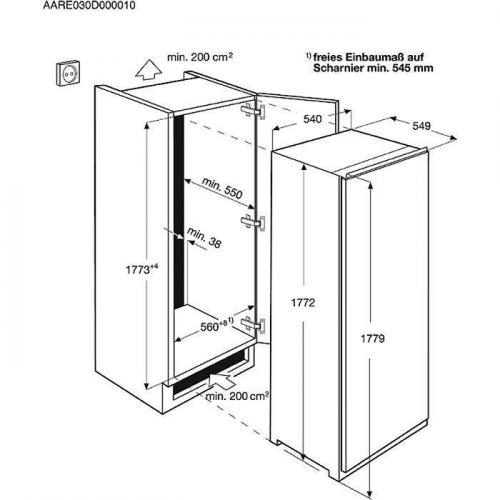 Sügavkülmik Electrolux, NoFrost, integreeritav, 178 cm, A+, 39 dB, elektrooniline juhtimine