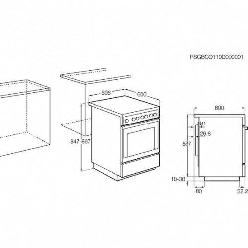 Elektripliit Electrolux, 4x Hilight, elektriahi, 60cm, valge