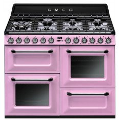 Gaasipliit Smeg Victoria, 7x gaas, 3x elektriahi, aurupuhastus, 110cm, roosa