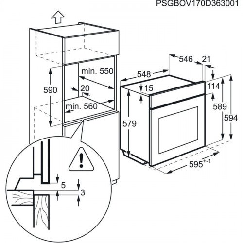 Ahi Electrolux, 72 l, A, pürolüüs, RV-teras